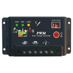 ขาย ซื้อ ออนไลน์ Thaivasion 30A 12 24V Auto Solar Charge Controllers With Led Display Black
