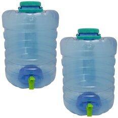 ถังน้ำดื่ม ใส รุ่นมีก๊อก ขนาด 20 ลิตร ( ถัง 2 ใบ/แพ็ค )