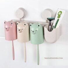 ราคา The Bear Toothbrush Holder ชั้นวางของในห้องน้ํา ที่วางแปรงสีฟัน ระบบสูญญากาศ หมี 3 สี ถูก