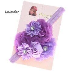 โปรโมชั่น ที่คาดผมเด็ก ที่คาดผมเด็กเล็ก ที่คาดผมสีม่วงประดับด้วยดอกกุหลาบดอกไม้เล็กช่อใหญ่ ใน กรุงเทพมหานคร