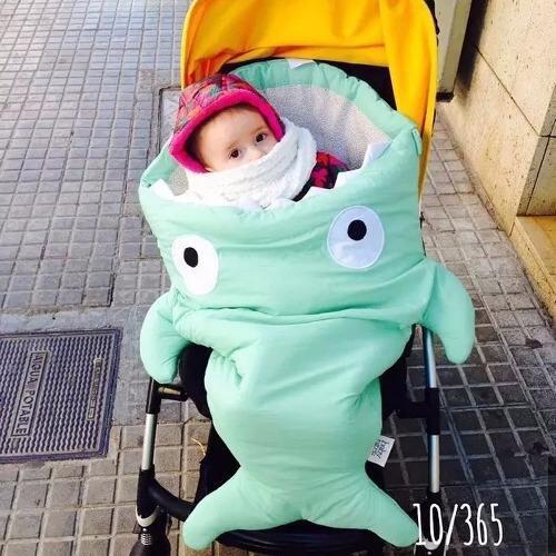 โปรโมชั่น ถุงนอนเด็กปลาฉลาม ถุงนอนสำหรับเด็ก ที่นอนเด็ก เสื้อผ้าเด็ก Sleeping Bag สีเขียวมิ้น