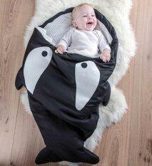 ถุงนอนเด็กรูปปลา ถุงนอนปลาฉลาม ถุงนอนสำหรับเด็ก ของใช้เด็กแรกเกิด ที่นอนเด็กทารก สีดำ By Cayla9.