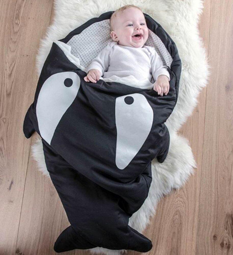 ราคา ถุงนอนเด็กรูปปลา ถุงนอนปลาฉลาม ถุงนอนสำหรับเด็ก ของใช้เด็กแรกเกิด ที่นอนเด็กทารก สีดำ