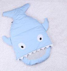 ถุงนอนเด็กรูปปลา ถุงนอนปลาฉลาม ถุงนอนสำหรับเด็ก ของใช้เด็กแรกเกิด ที่นอนเด็กทารก สีฟ้า By Cayla9.