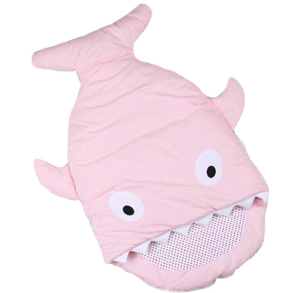 ราคา ถุงนอนเด็กรูปปลา ถุงนอนปลาฉลาม ถุงนอนสำหรับเด็ก สีชมพู