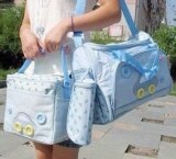 ซื้อ Tm กระเป๋าสัมภาระคุณแม่ Set 3 ใบ ลายรถ สีฟ้าสดใส