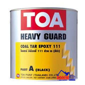 TOA Coaltar Epoxy 111  ทีโอเอ โคล ทาร์ อีพ็อกซี่ 111(สีดำ) ขนาดชุด  แกลลอน 3.785 ลิตร A+B-