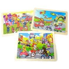 โปรโมชั่น Todds Kids Toys ของเล่นเสริมพัฒนาการ เซตจิ๊กซอว์ไม้ 40 ชิ้น X 3 เเผ่น Thailand