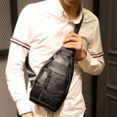 ราคา Tokyo Boy กระเป๋าหนัง คาดอก สะพายไหล่ผู้ชาย รุ่น Ne555 สีดำ Tokyo Boy