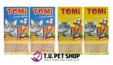 ขาย ซื้อ ออนไลน์ สินค้า Packaging ใหม่ Tomi Liquid Snack โทมิ ขนมแมวเลีย แถมฟรี กล่องละ 3 ซอง รวม 12 ซอง รสแซลมอน อินูลิน 2 กล่อง และ รสไก่ ตับ 2 กล่อง