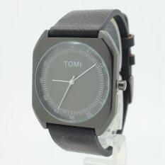 ขาย ซื้อ Tomi นาฬิกาข้อมือผู้ชาย ผู้หญิง สายหนัง ทรงสี่เหลี่ยม ระบบเข็ม Tm 05 ใน กรุงเทพมหานคร