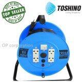 ราคา Toshino Fm310 20 ล้อสายไฟ ปลั๊กพ่วง Vct 3×1 ยาว 20 ม สีฟ้า ใหม่