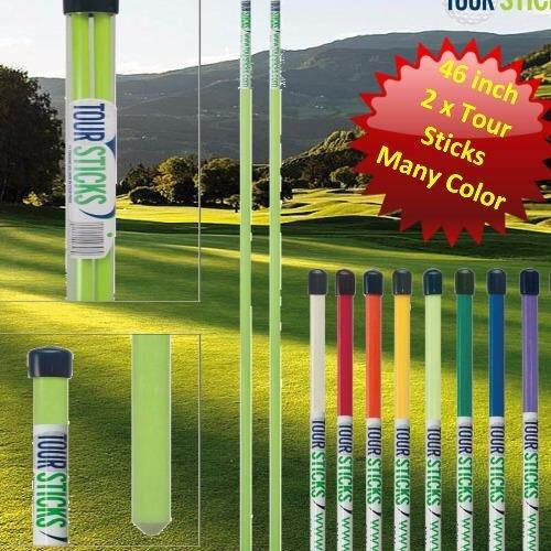 Tour Sticks 2 x Alignment Sticks + Tube (Lime Green) 120 cm