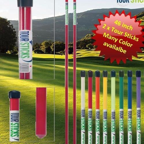 Tour Sticks 2 x Alignment Sticks + Tube (Red) 120 cm