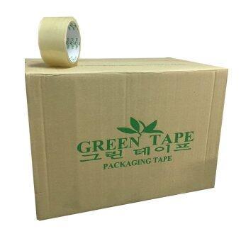 TPS Green Tape เทปปิดกล่อง OPP สีใส ขนาด 2นิ้ว x 45 หลา แพ็ค 36 ม้วน