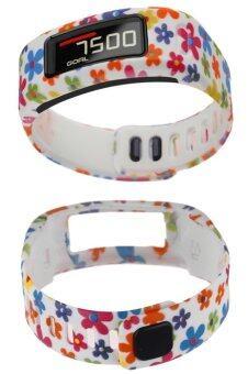 ทีพียูสำหรับสายรัดข้อมือของ Garmin Vivofit พร้อมสายคล้องคอแอลเอสขนาดแอลดอกไม้