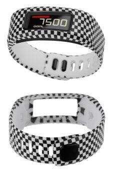 TPU Replacement Wristband Band FOR Garmin Vivofit Bracelet with Clasp L S SizeL Grid