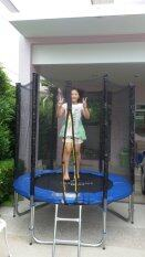 ราคา Trampolinejump แทรมโพลีน 6 ฟุต สปริงบอร์ดออกกำลังกาย สีน้ำเงิน Trampoline Jump
