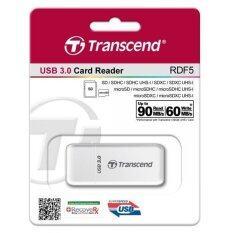 Transcend RDF5 SD & Micro SD USB3.0 Card Reader in (White)