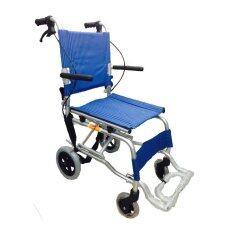 ซื้อ Triple รถเข็นผู้ป่วย พับได้พร้อมกระเป๋าใส่เดินทาง สีน้ำเงิน รุ่น Y802 ออนไลน์