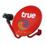 ซื้อ True จานเล็ก ทรูวิชั่น แบบขายึดผนัง จานดาวเทียม Ku Band ขนาด 35 ซม พร้อมหัวรับสัญญาณไทยคม Ku 11300 ถูก เชียงใหม่