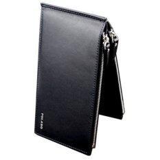 Trusty กระเป๋าใส่เช็ค กระเป๋าเงิน กระเป๋าหนัง กระเป๋าใบยาว Double Zip 0596 สีดำ กรุงเทพมหานคร