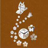 ขาย ซื้อ Trusty นาฬิกาติดผนัง Butterfly ของแต่งบ้าน ยอดฮิต Diy 129X สีเงิน Thailand