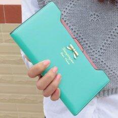 ราคา Trusty กระเป๋าสตางค์ใบยาวแบบแยกชิ้น กระเป๋าโทรศัพท์ สีเขียวอ่อน ใหม่ ถูก
