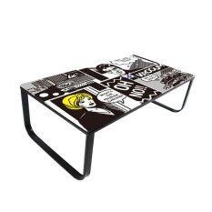 ราคา Tsf โต๊ะกลางโซฟาโครงเหล็กหน้ากระจกหนา 6 Mm รุ่น Miley Cartoon เป็นต้นฉบับ Tsf