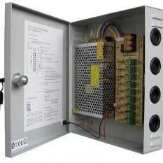 ตู้จ่ายไฟ 9 Ch. 12V 15A สำหรับกล้องวงจรปิด 8 จุด ไม่ต้องใช้ อแดปเตอร์ Switching Power Supply (Grey)