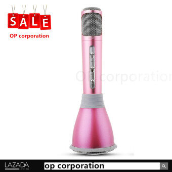 TUXUN K068ไมโครโฟน Mobile Phone Karaoke Condenser Wireless Bluetooth Microphone \u0096 (pink)