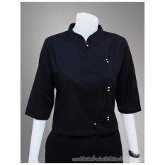 โปรโมชั่น Tw Blw01 เสื้อผ้าป่านสีดำ กระดุมกระดิ่ง ใน กรุงเทพมหานคร