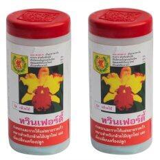ซื้อ Twinfirty Fertilizer ปุ๋ยเกล็ด อาหารเสริมต้นไม้ 10 52 17 100 กรัม 2 ขวด สีแดง ถูก กรุงเทพมหานคร