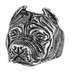 โปรโมชั่น U7 สเตนเลสสตีล Bulldog รูปผู้ชายวงแหวน ถูก
