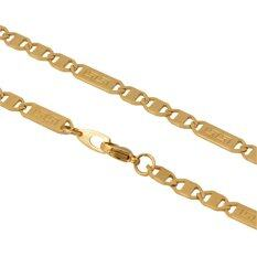 ขาย ซื้อ U7 Vintage Chain 18K Real Gold Plated Necklace Gold จีน