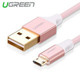 ซื้อ Ugreen 1 5M Usb To Double Side Micro Usb Data Sync Charging Cable Aluminum Shell For Android Phones Pink ถูก
