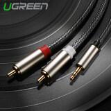 ซื้อ Ugreen 3 5มม ถึง 2Nสายไนลอนถักเครื่องเสียงไฮไฟเสียงที่อาร์ซีเอสายรองเข้ากันได้กับNmp3 4 มือถือ Ipod 5แผ่น ถูก
