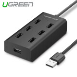 ส่วนลด สินค้า Ugreen 7 Port Usb 2 Hub Splitter With Micro Usb Charging Interface 1 5M Black