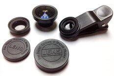 ราคา Universal Clip Lens 3In1 เลนส์มือถือ Smartphone Tablet สีดำ ใหม่