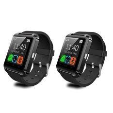 Uwatch U8 Touch Screen Smart Watch 2015 นาฬิกาบลูทูธ แพ็ค 2 ชิ้น (Black)