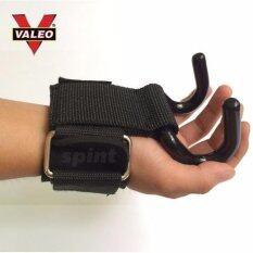 ราคา Valeo สแตรปส์รัดข้อมือยกน้ำหนัก แบบมีตะขอ รุ่น Weight Lifting Hooks 1คู่ สีดำ Valeo