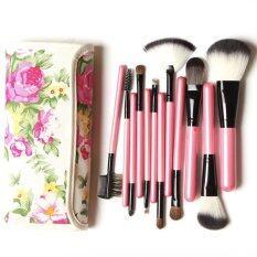 ซื้อ Vanilla In Love ชุดแปรงแต่งหน้า ลายดอก 12 ชิ้น สีชมพู ถูก ไทย