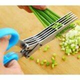 ราคา Vauko 5 Blades Stainless Steel Scissors กรรไกร สแตนเลส 5 ชั้น ตัด หั่น ซอย สาหร่าย ผัก สมุนไพร กระดาษ อเนกประสงค์ สารพัดประโยชน์ สีฟ้า Cutting Paper Crafts Herb Vegetable รุ่น 5 Scissor G Blue จำนวน 1 อัน ที่สุด