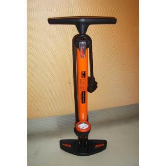 VAUKO : FIXED GEAR ที่สูบลมจักรยาน แรงดันสูง ด้ามปีกนก แบบมีเกจ์วัดระดับลม 2 in 1 แบบสูบฟิกซ์เกียร์ เสือภูเขา ฐานใหญ่ สีส้ม KW-808