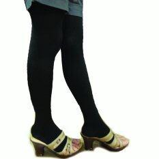 สีดำ ถุงน่องรักษาเส้นเลือดขอด แบบเหนือเข่า (class1 แรงรัด 15-20 Mmhg)เปิดopenนิ้วเท้า.