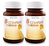 ราคา Vistra B Complex Plus Minerals วิตามินบีรวม บำรุงสมอง และระบบประสาท 30 เม็ด X 2 ขวด เป็นต้นฉบับ