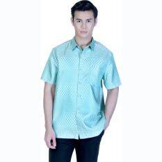 ราคา Vkp เสื้อเชิ้ตผ้าทอยกดอก ลายไทย รุ่น Ayo 08 สีเขียว ราคาถูกที่สุด