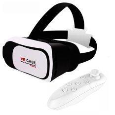 VR Tech VR Case RK3Plus แว่นตาสามมติ ขนาด 4.7-6.0 นิ้ว(ของแท้)-สีขาว + รีโมทบรูทูธ VR Case