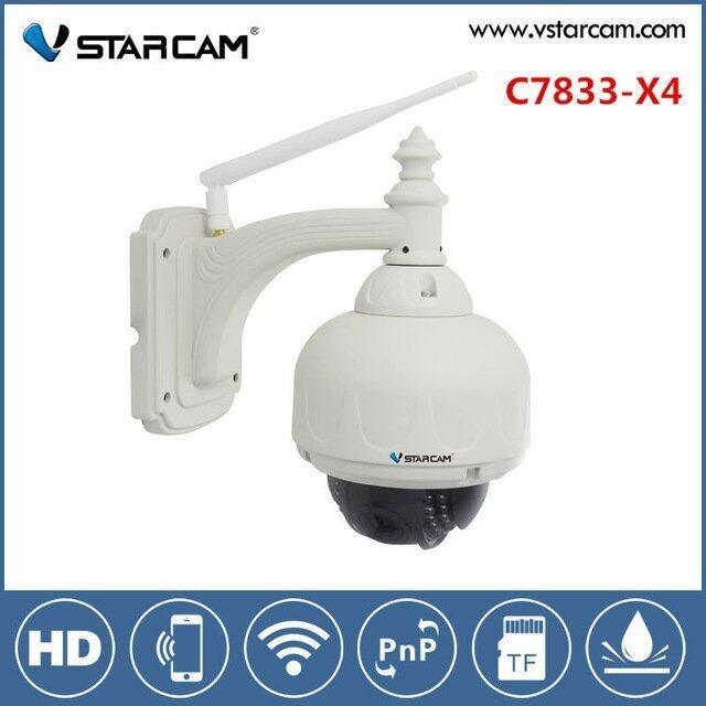 ขาย Vstarcam C7833Wip X4 1 Mp Hd 720 P Zoom 4 X กล้องวงจรปิดผ่านอินเตอร์เน็ตพร้อมเคสกันน้ำ Out Door สีขาว Vstarcam ใน กรุงเทพมหานคร