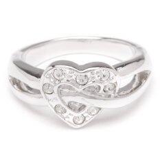 ขาย ซื้อ W Jewelry แหวนประดับคริสตัล Austria รุ่น R0101 สีเงินกึ่งทองคำขาว